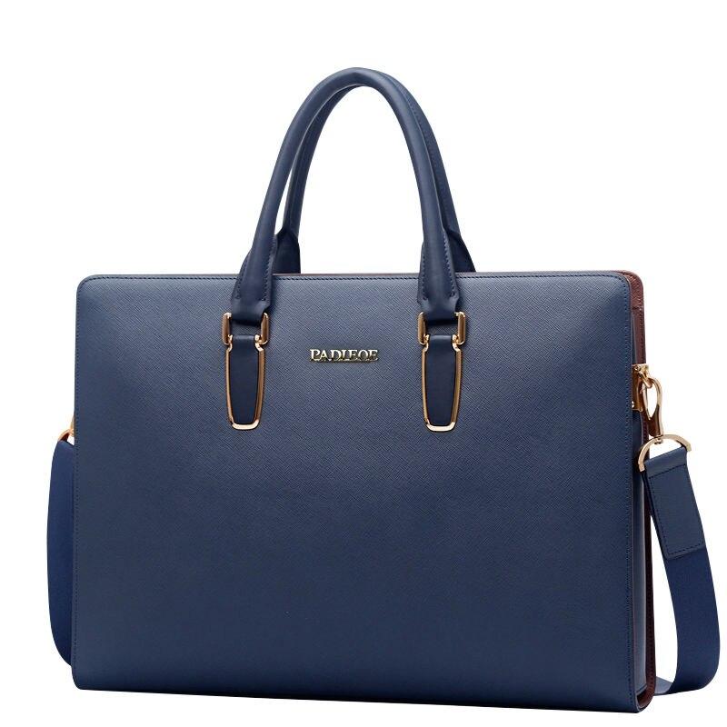 Handbag Men Business Briefcase Laptop-Bag Messenger-Bag Travel Casual Brand Cowhide-Bag