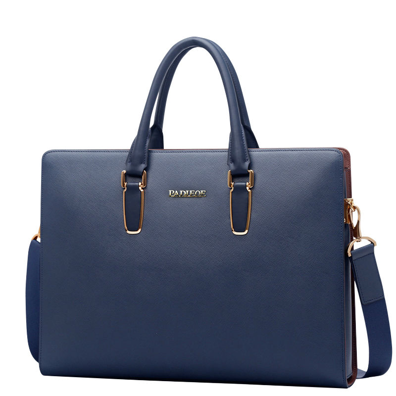 Brand messenger bag handbag men shoulder bag leather casual briefcase cowhide bag men business travel laptop bag