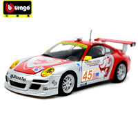 Burago 1:24 Scale simulation racing alloy car model toy For 911 GT3 Decast Metal car decoration model gift with Original Box