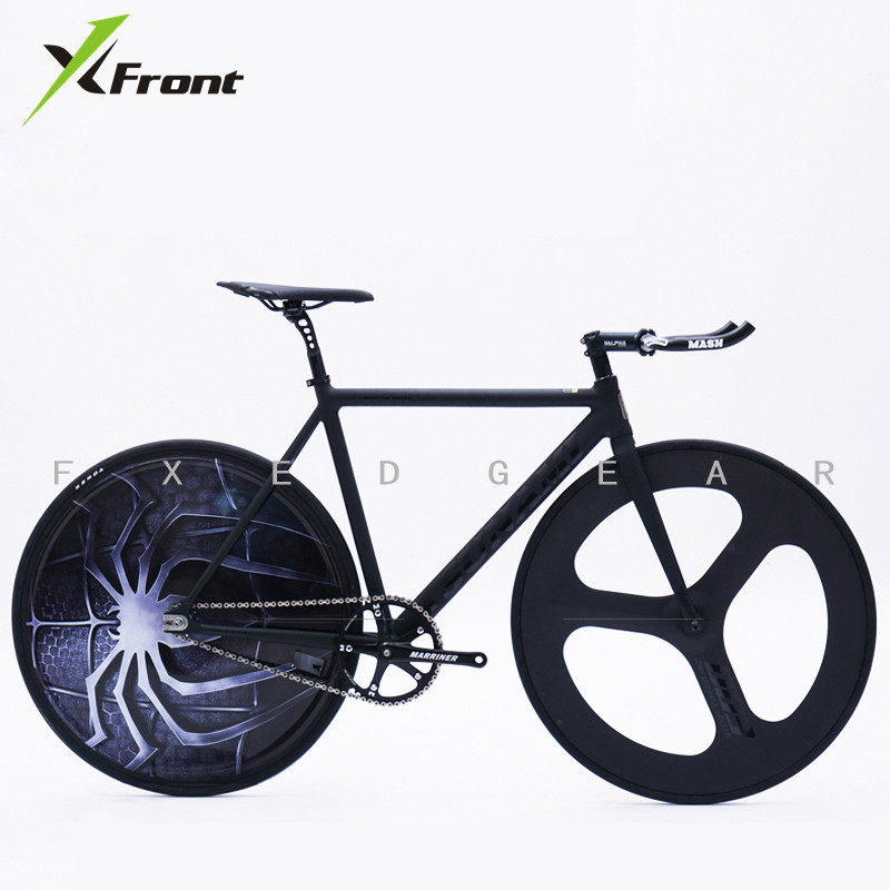 X-Front Fixed Gear Bicycle Aluminum Alloy Frame Spider Cutter Covered Wheel Blade Muscle Fixie Bicicleta Sports Racing Road Bike