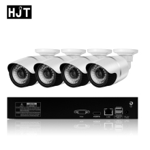 HJT 5.0MP IP Camera Kit 8ch NVR CCTV System 36IR Night Vision Onvif Private Protocol Network P2P Remote View H.265