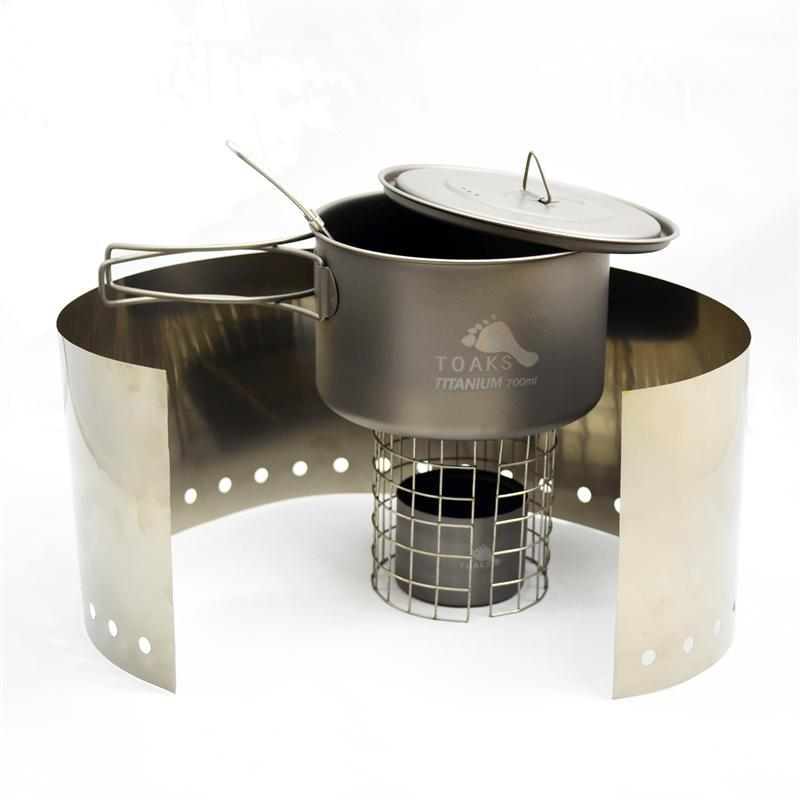 TOAKS Ultralight Titanium Alcohol Stove with 700ml Pot Cook System cook with jamie