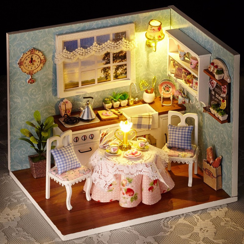 Handmade Doll House With Furniture Miniature Diy Doll Houses