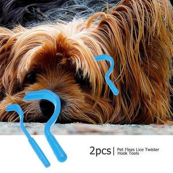 Nowy 2 sztuk pchły wszy Twister Hook plastikowe koń ludzki kot domowy pies Tick Remover 2 rozmiar Dog Grooming Tick Remover narzędzia tanie i dobre opinie VKTECH CN (pochodzenie) Z tworzywa sztucznego Pet Fleas Lice Twister Hook Tools 2pcs