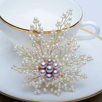 Retro Pearl Big Brooch Designer Brand Classic Royal Jewelry Luxury Gifts Floral Brooches for Women Accessories Pins and Brooches