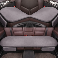 Karcle Plush Car Seat Cover Set for 4 Seasons Not Ball Durable Seat Cushion Soft Breathable Covers Car Styling Auto Accessorie