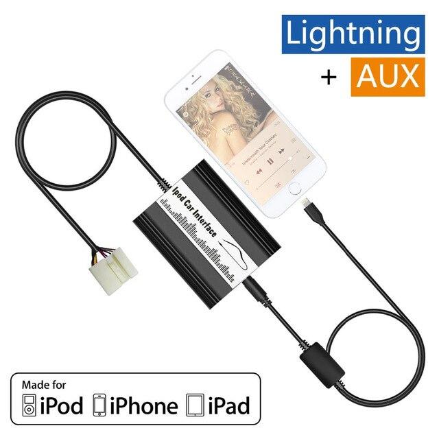 Авто iPod iPhone Автомобильный Адаптер MP3 Интерфейс Lightning 8 Контактный Зарядное Устройство для 2005 + Fiat Sedici Нет-Navi Радио