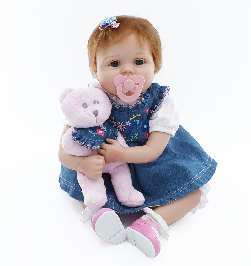 Soft Silicone Reborn Babies Dolls Toy Like Real Girls Brinquedos Birthday Gift Present 55cm Princess Newborn Girl Baby Play Hous александр тюрин und борис севастьянов средства коллективной защиты в стрелковых тирах