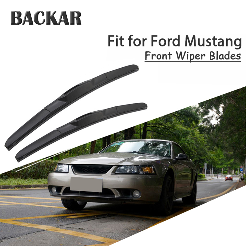 BACKAR 2pcs Front Windshield Wiper Blades For Ford <font><b>Mustang</b></font> IV V VI 4 5 6 th <font><b>GT</b></font> Accessories image