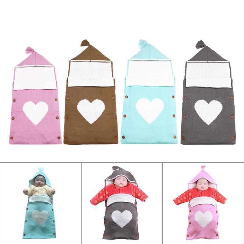 Nouveau-né Swaddle Wrap Hiver Chaud Infantile Bébé Sac de Couchage Sleepsacks De Mode À Capuchon Poussette Souple Couverture À Emmailloter Enveloppe