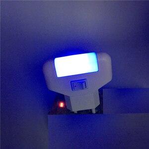 Image 5 - 1 pçs led noite lâmpada crianças ac 220 v 230 v iluminação azul para casa lâmpadas de emergência plug ue quarto arte iluminação
