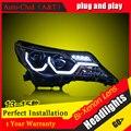Car Styling For TOYOTA RAV4 led headlights 2013-15 For RAV4 head lamp Angel eye led DRL front light Bi-Xenon Lens xenon HID KIT