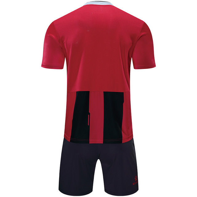 KELME Men Striped Soccer Jerseys Soccer Uniform survetement Short Sleeve Football Set maillot de foot Customize Logo 3881018