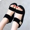 Чистый ветер Институт толстой подошве simple дамы платформы сандалии производители женщины сандалии 2017