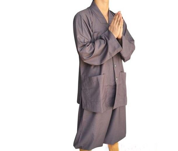 Buddhistischen Unisex Laien Kleidung Meditation Abbot Kampfkunst Mönch Anzüge Lange Robesgown Haiqing China Berühmte Marke Jacken
