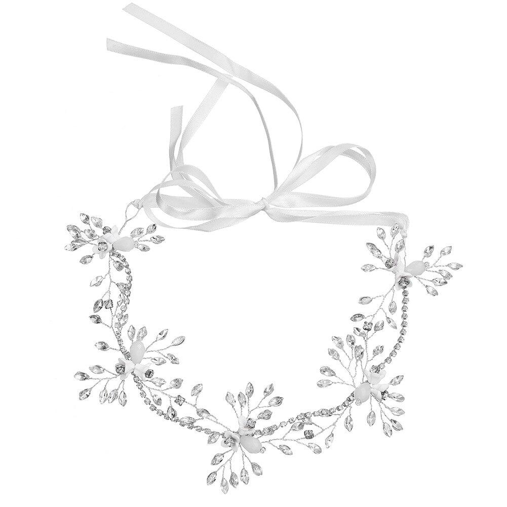 Hochzeit Zubehör Kenntnisreich Socci Luxus Braut Stirnband Handmade Silber Perle Strass Inlay Hochzeit Headwear Kopfschmuck Schmuck Haar Zubehör Neue Braut Kopfbedeckungen