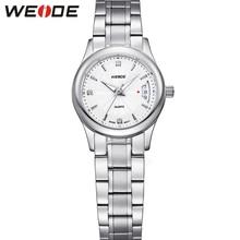 WEIDE Marca de Fábrica Original de Zafiro Del Reloj Para Mujer de Lujo de Plata Correa de Acero Inoxidable 30 m Impermeable Movimiento de Cuarzo Relogio Feminino