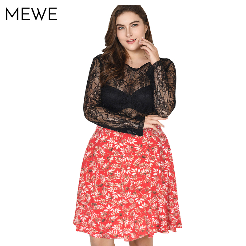 Red Leaf Printed Pleated Skirts Plus Size 6xl 7xl Womens Summer New Chiffon Fashion High Waist Short Skirt A line Midi Skirt 5xl