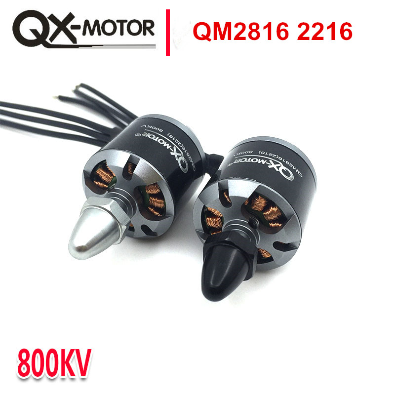QX-MOTOR hight quality QM2816(2216)Motor 800/1100KV CW CCW for Multi-Copter Quad-Copter the same with EMAX mt 2216 4set lot original emax mt2216 810kv plus thread brushless motor 2 cw 2 ccw for multirotor quadcopters with 1045 propeller