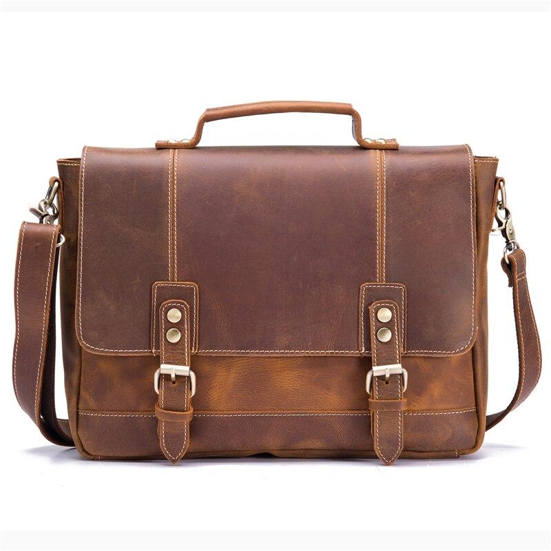 Мужской портфель из натуральной кожи из воловьей кожи в стиле ретро, мужская повседневная сумка мессенджер, сумки Bolsa, деловая сумка через плечо для мужчин