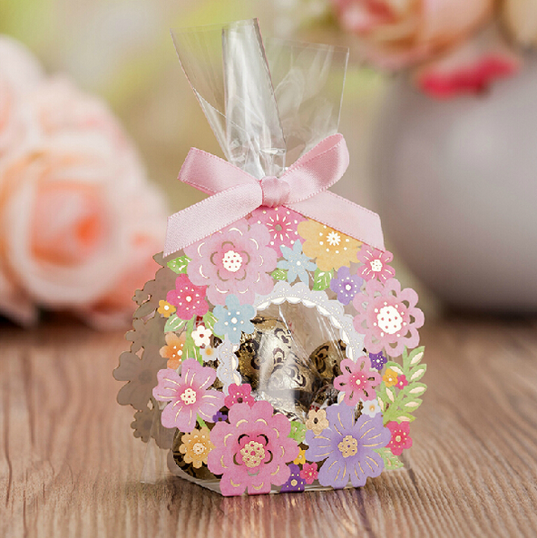 New Arrival Flower Lace Wedding Gift And Favors Box