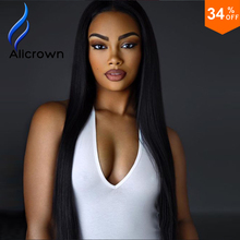 130/150/180 Density Full Lace Virgin Hair Wigs Bleached Knots Straight Brazilian Lace Front Wig U Part Human Hair Wigs No Tangle