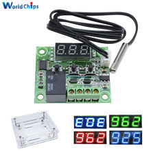 4 Warna W1209 DC 12V LED Digital Panas Cool Thermostat Suhu Kontrol Thermometer Controller Switch Modul + NTC Sensor(China)
