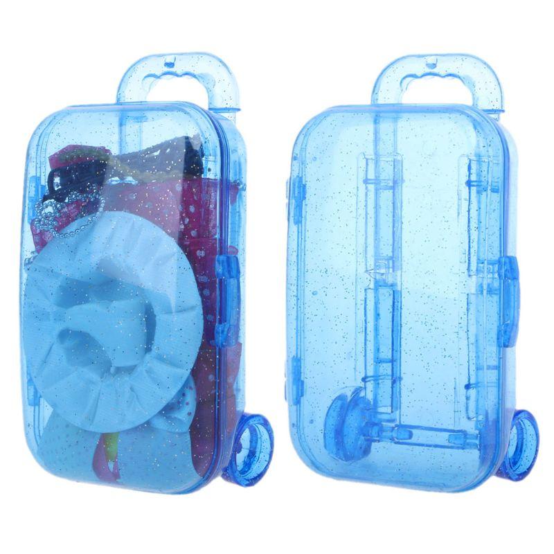 Accesorios para Barbie Doll House Miniatura Mini Maleta de Viaje Equipaje Modelo Prop Accesorios de Juguete para Barbie Ni/ños Regalo de Las ni/ñas 3 Unids Mu/ñeca Mini Maleta