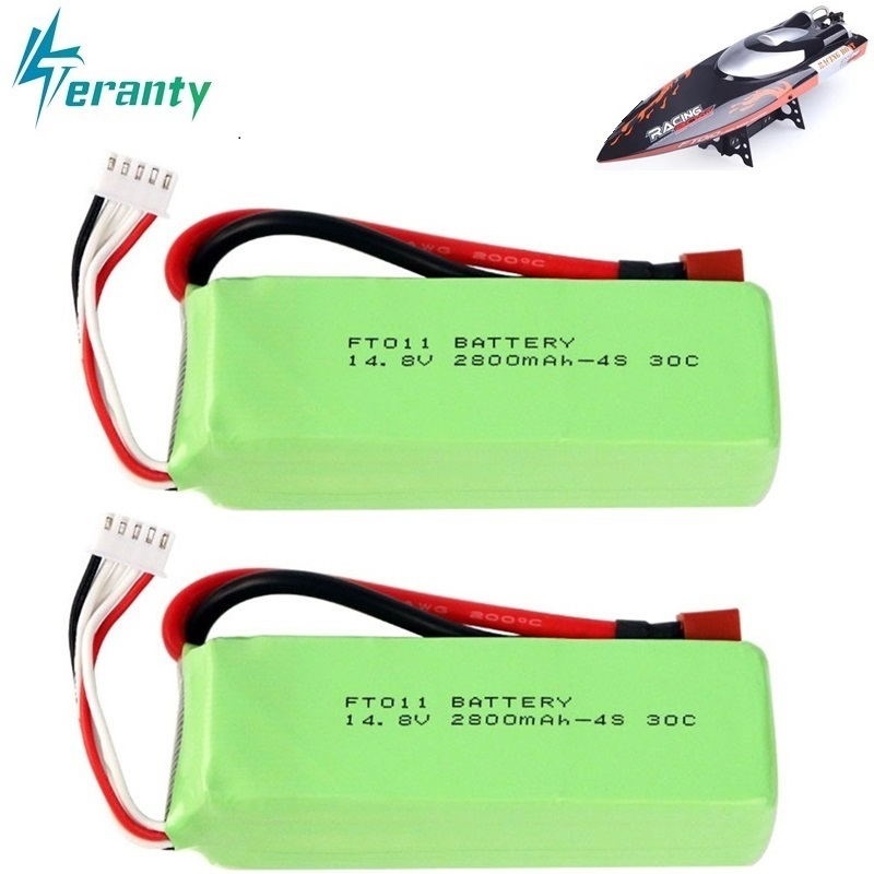 <font><b>2800mah</b></font> 14.8V BATTERY RC <font><b>4s</b></font> <font><b>Lipo</b></font> Battery 14.8V 30C 803496-<font><b>4s</b></font> for FT010 FT011 RC boat RC Helicopter Airplanes Car Quadcopter 2pcs image