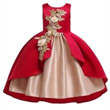 купить Girls Wedding Dress Baby Girls Princess Dress New Summer Princess Dress Baby Girl Clothes Children Girls Party Kids Dress по цене 1246.04 рублей