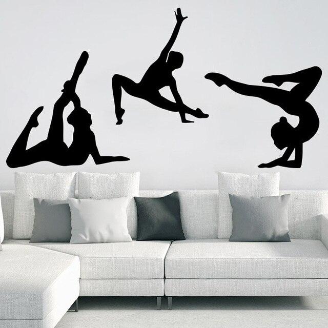 Gymnast Wall Decals Sport Girl Gymnastics Dance Studio Decal Home Design  Interior Art Vinyl Sticker Vinilos