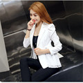 Casual OL Office Lace Design Blazer Long Sleeves One Button Candy Color Suit Jacket Women Basic Coats