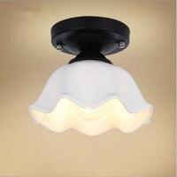 Glass Nordic Modern LED Ceiling Lamps For Living Room Corridor Aisle LED Ceiling Lights Fixtures Plafon