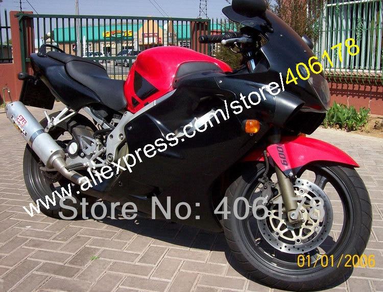 Venda quente, Black Red carenagem kit Para Honda CBR600 F4 CBR 1999 2000-600 CBR600F CBR600F4 Carenagens Sportbike (moldagem por injeção)