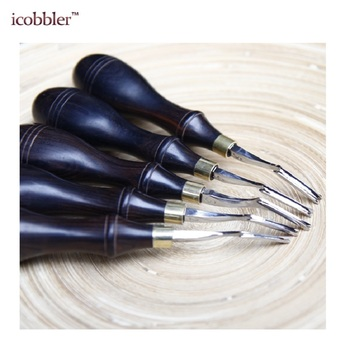 1/5Pcs High Quality Leather Edge Stitching Groover Cutting Knife Leather Stitching Cutter Thinning Tools Wide Scraper Edge DIY