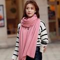 Winter Scarf Hot Sale Acrylic Cotton 2017 New Fashion Adult Solid Winter Women Scarf Keep Warm Long Hood Big Female Scarves