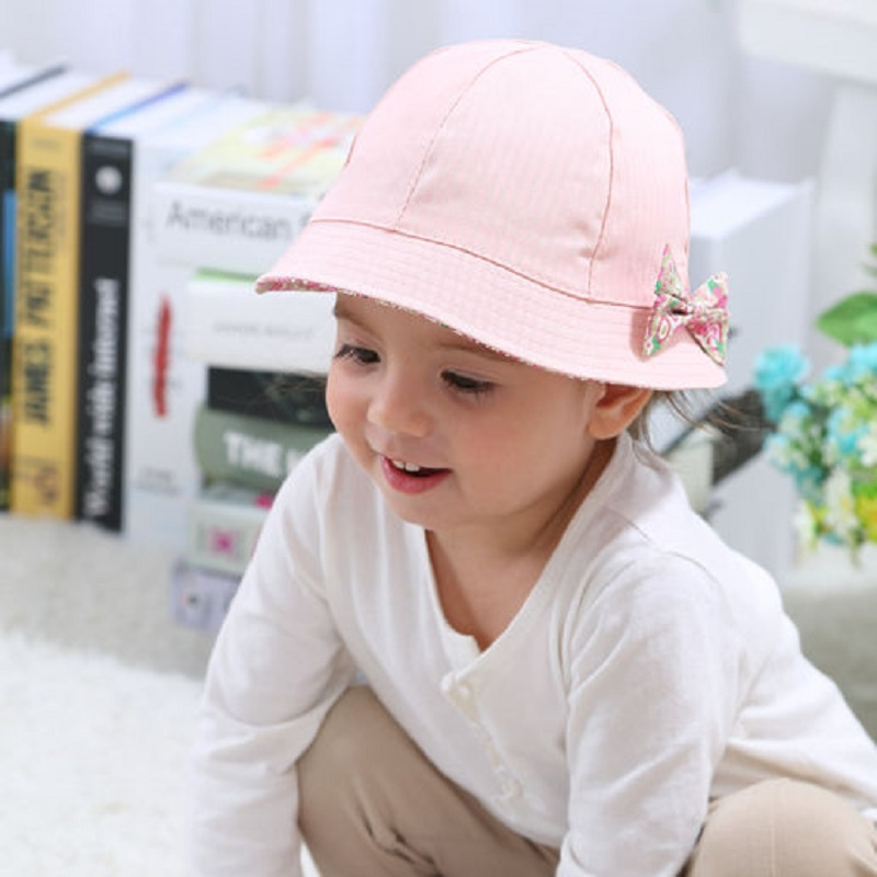 Baby Girl Sun Hat Baby Toddler Girl Princess Wide Brim Sun Hat Polka Dot Floral Summer Beach Bucket Hat Straw Cap Pink