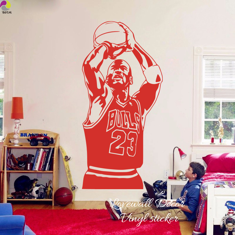 Amazing Us 8 21 10 Off Chicago Bulls Michael Jordan Wall Sticker Living Room Nba Basketball Player Wall Decal Kids Room Children Room Vinyl Home Decor In Home Interior And Landscaping Ologienasavecom