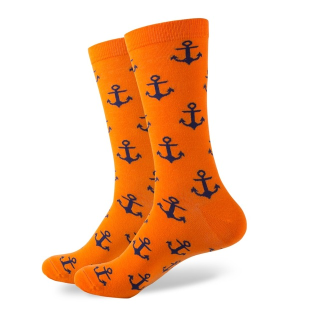 Anchor Print Cotton Socks 2