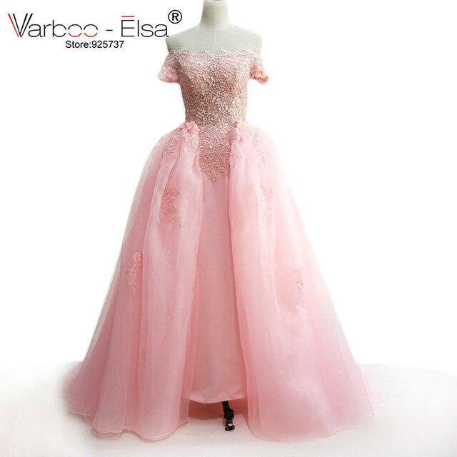 timeless design a0563 4dc51 US $169.0 |Saudi arabien kleid 2018 kleider für besondere anlässe rosa  formale kleider lange abendkleider pfirsich abendkleid abnehmbare zug in ...