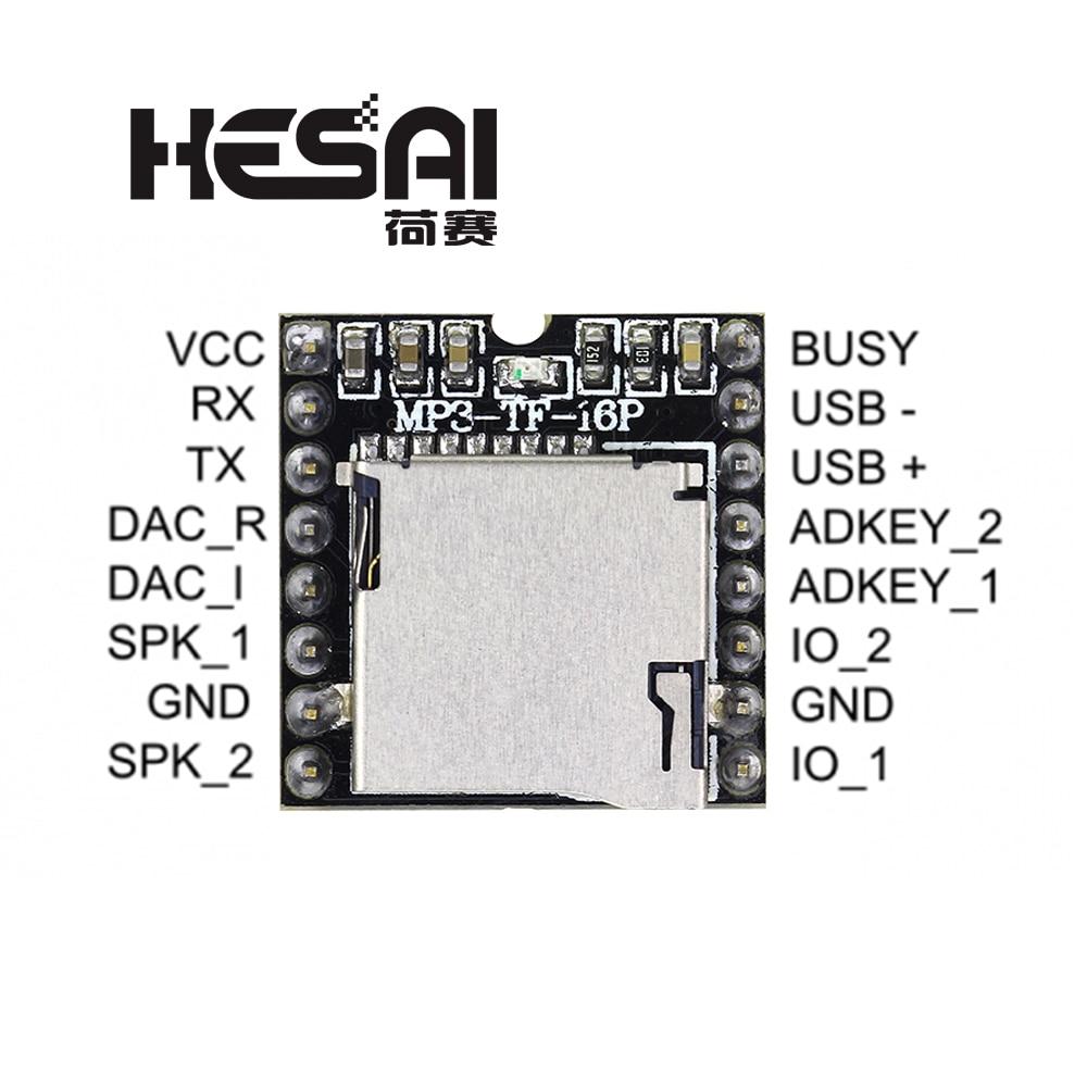 DFPlayer Mini MP3 Player Module MP3 Voice Decode Board Supporting TF Card U-Disk IO/Serial Port/AD For Arduino Diy Kit