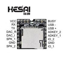 2020!DFPlayer Mini MP3 Player Module MP3 Voice Decode Board Supporting TF Card U Disk IO/Serial Port/AD for arduino Diy Kit