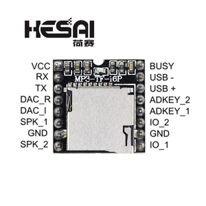 Image 1 - 2020!DFPlayer Mini MP3 Player Module MP3 Voice Decode Board Supporting TF Card U Disk IO/Serial Port/AD for arduino Diy Kit