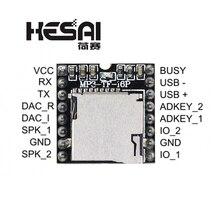 2020!DFPlayer Mini Module de lecteur MP3 carte de décodage vocal MP3 prenant en charge la carte TF u disk IO/Port série/AD pour Kit de bricolage arduino