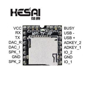 Image 1 - 2020!DFPlayer Mini odtwarzacz MP3 moduł MP3 dekodowania głosu wsparcie karty TF u disk IO/Port szeregowy/AD dla arduino Diy Kit