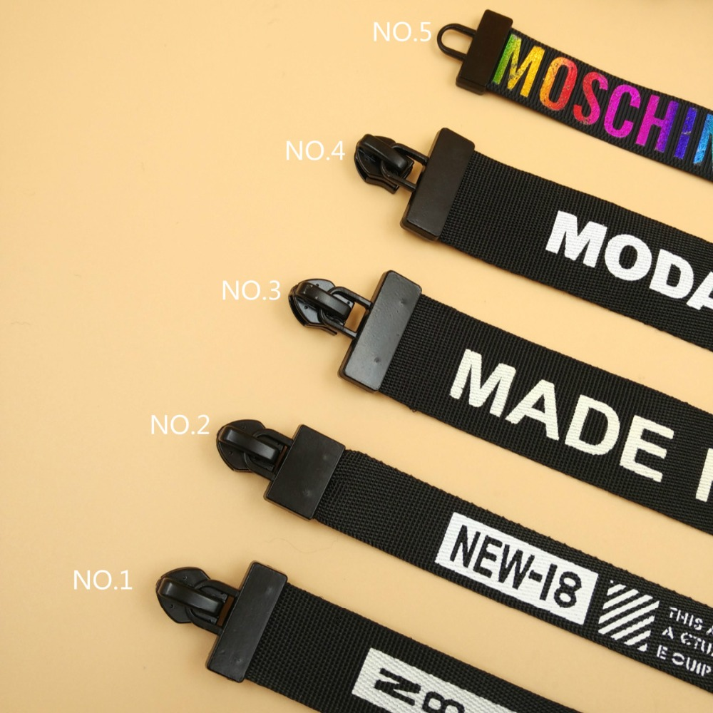 New 5# Fashion Long Zipper Puller Pull For Nylon Waterproof Zipper ...