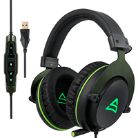 NEW!SUPSOO G817 Surround stereo Gaming Headset Adjustable Gamer USB Earphones with Mic Headphone for PC Computer Laptop