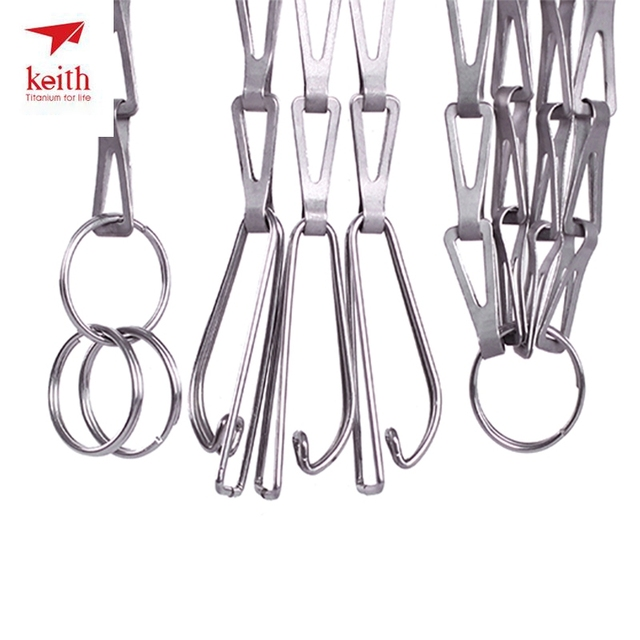 Keith Titanium Hanging Chain Outdoor Camping Hiking Cookware Hanging Chain BBQ Parts Ultralight 38g 1.8m Ti1600 Dropshipping