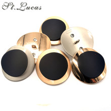 New fashion 2pcs/lot 40mm big gold metal decorative Button for women Mink overcoat garment sewing crafts accessory scrapbooking(China)