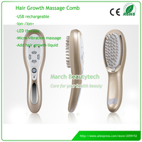 Hair Loss Treatment Chargeable Hair Care Vibration Massage LED Therapy Laser Electric Hair Growth Comb Brush